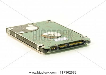 Sata Hdd Hardrive Computer Parts Close-up Isolated On White