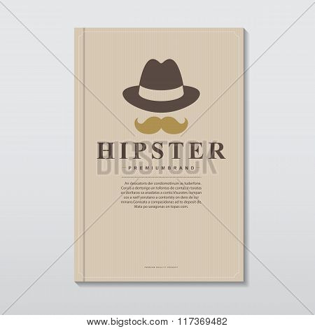 Book Cover In Vintage Hipster Style
