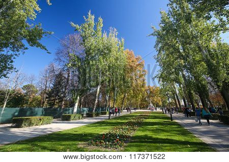 The Buen Retiro Park In Madrid, Spain