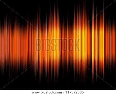 Orange abstract digital sound wave.