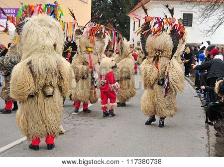 Traditional Carnival With Traditional Figures, Known As Kurent, Ptuj, Slovenia