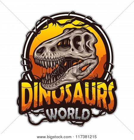 Dinosaurs world emblem