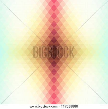 Retro pattern of geometric shapes. Colorful mosaic banner.