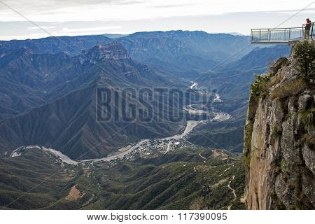 Urique Canyon With Viewing Platform