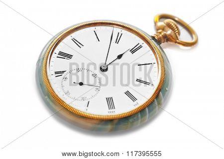 Retro watch isolated on white background