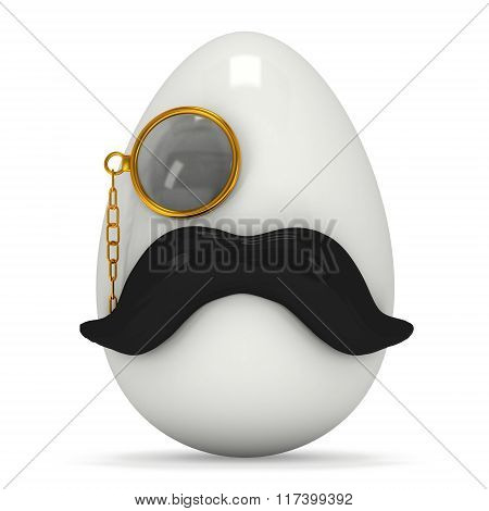 Egg With Mustache And Monocle