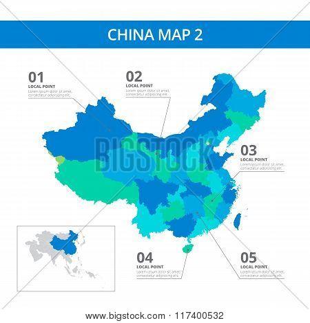 China map template 2