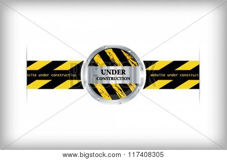 Illustration of a website under construction sign