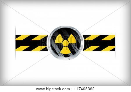 Illustration of a nuclear radioactive sign