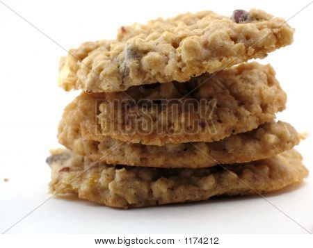 Homemade Cookies In A Pile