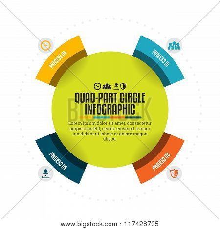 Quad-part Circle Infographic