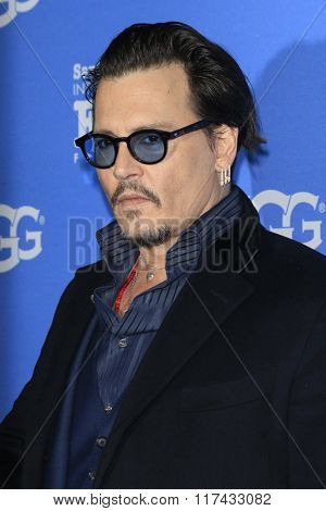 SANTA BARBARA - FEB 4:  Johnny Depp at the 31st Santa Barbara International Film Festival - Maitlin Modern Master Award at the Arlington Theatre on February 4, 2016 in Santa Barbara, CA