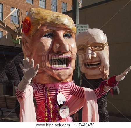 Mardi Gras Trump And Bernie