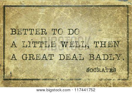 Do Well Socrates