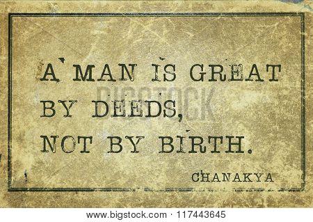 Great By Deeds Chanakya