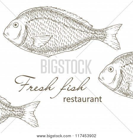 fish restaurant cover design