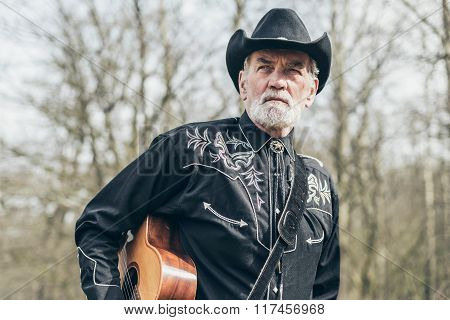Senior Country Western Guitarist At The Woodland