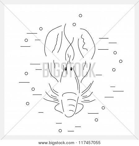 Lobster line logo.