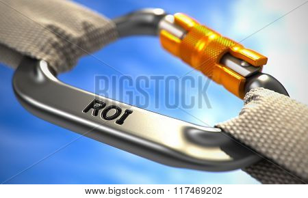 Chrome Carabine Hook with Text ROI.