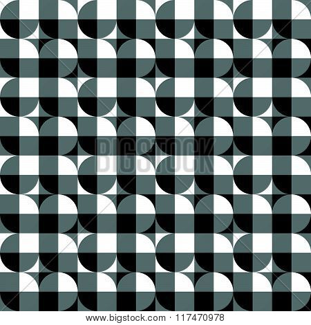 Seamlessly Repeatable Abstract Geometric Pattern, Background. Editable Vector.