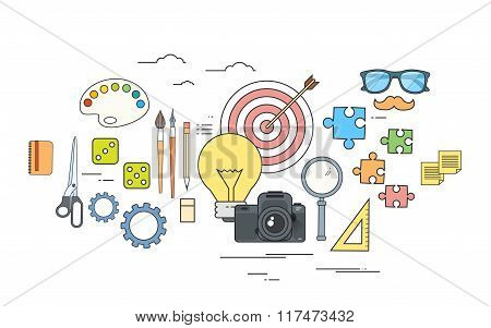 Creative Process Icon Designer Work Tools Color Logo