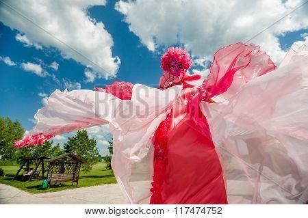 Man In Pink Fancy Dress