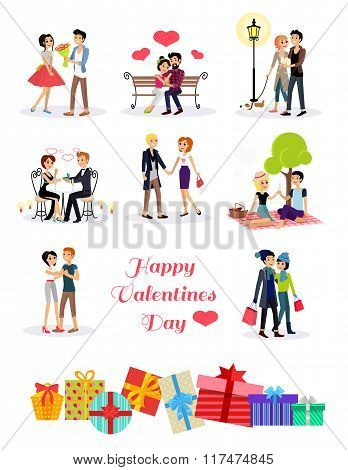 Happy Valentine Day Couple Set