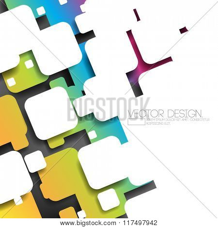 overlapping silhouette rounded corner square multicolor concept