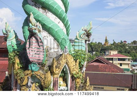 Detail Of Buddhist Temple In Myanmar