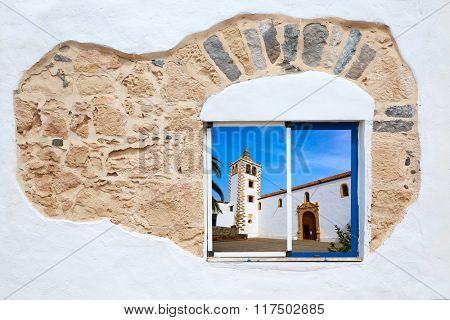 Fuerteventura white window photomount at Canary Islands of Spain