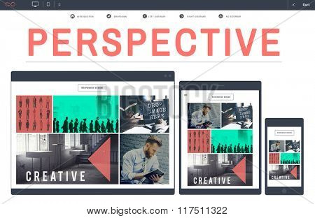 Perspective Position Attitude Approach Angle Concept poster