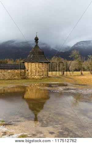 old tower of Cristian Kostol sv. Ladislava in Slovakia