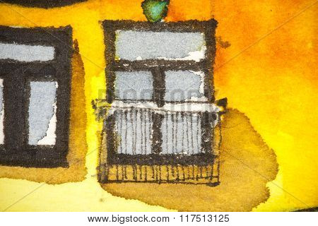 Balcony and window painting
