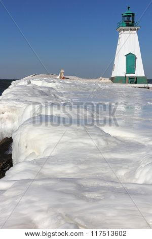 Lighthouse Pier and Ice