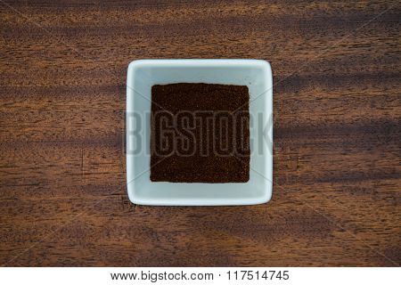 Chili Powder In White Bowl