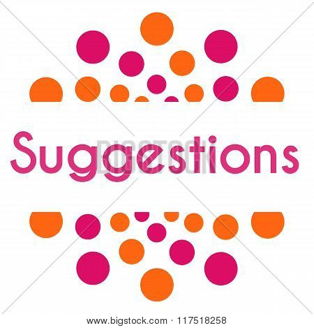 Suggestions Pink Orange Dots Square