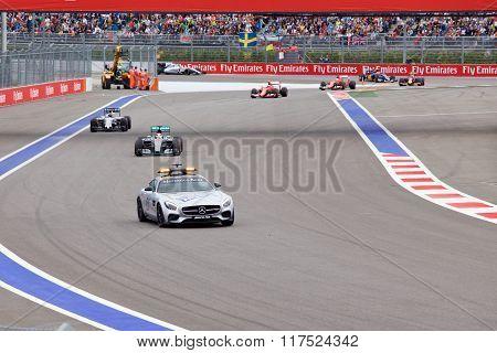 Lewis Hamilton of Mercedes AMG Petronas. Formula One. Sochi Russia