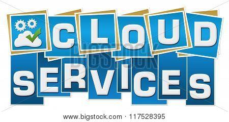 Cloud Services Blue Squares Text Bottom