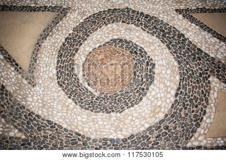 Texture Of The Stone Floor In The Lobby