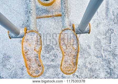 Step Machine In Winter