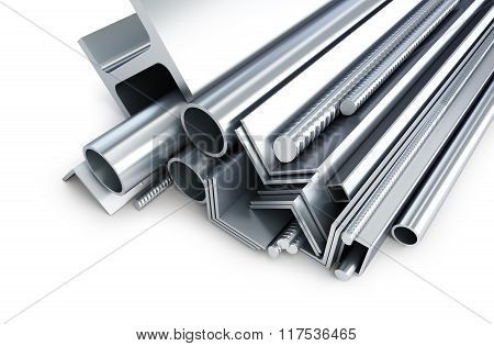 Background Metallic Pipes, Corners, Types