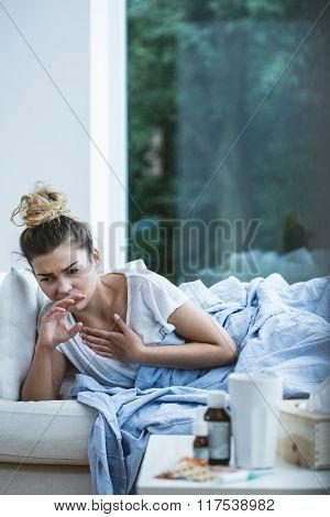 Woman Has Nausea