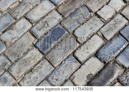 Blue Bricks of Old San Juan