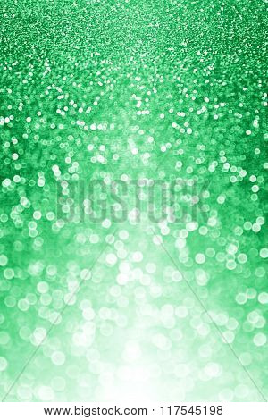 Green Glitter Sparkle Background