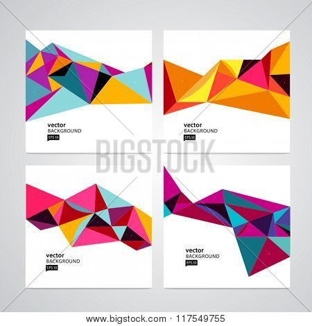 vector set abstract geometric background