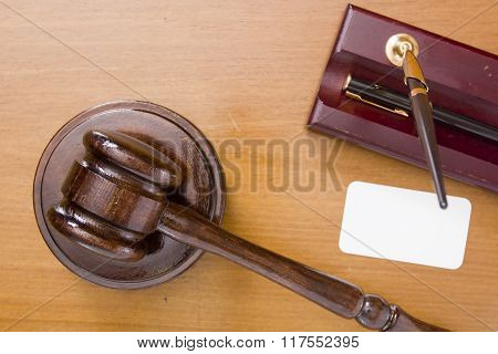 Referee Mallet On A Wooden Stand
