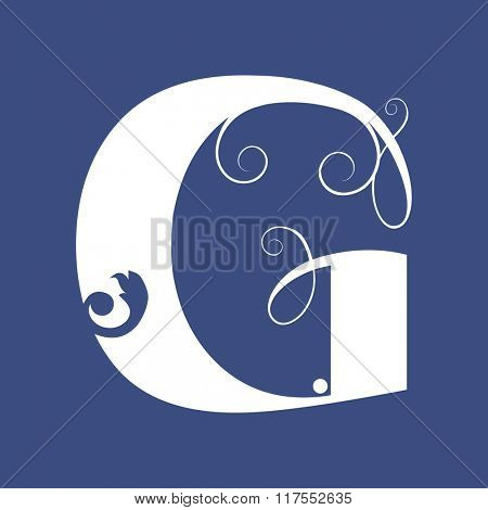 calligraphic letter G