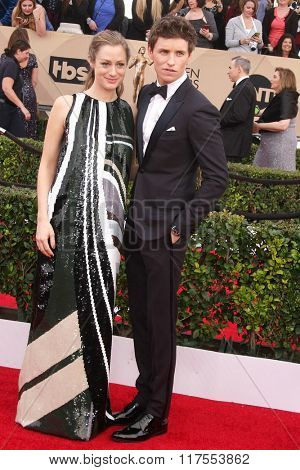 LOS ANGELES - JAN 30:  Eddie Redmayne at the 22nd Screen Actors Guild Awards at the Shrine Auditorium on January 30, 2016 in Los Angeles, CA