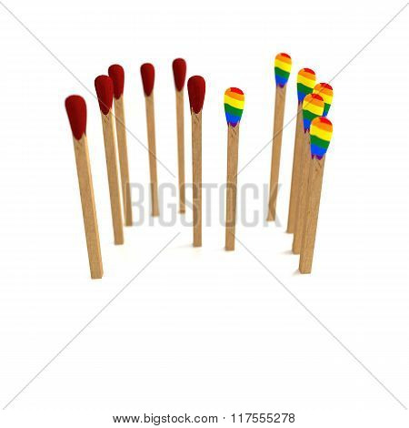 Red Vs Rainbow Matches