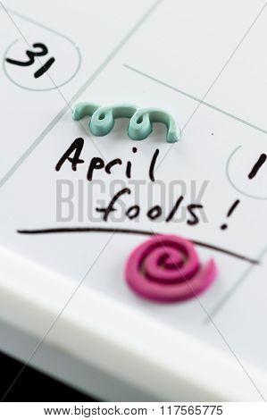 April Fools On A Calendar
